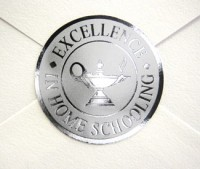 Silver envelope seals for graduation