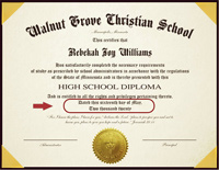 Provide the month, day and year for your diploma.