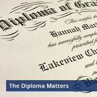 Be sure to finish well with a professionally printed diploma!