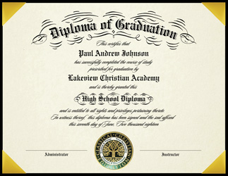 Vintage Diploma is printed in thermography and uses hand flourishing