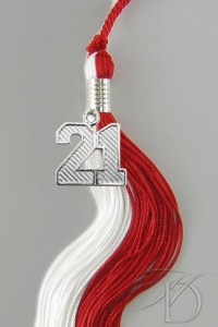 Red & White Tassel
