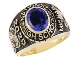 "Large ""Affinitor"" Class Ring makes an excellent gift for a Homeschooled Male graduate"