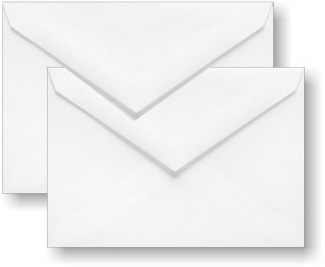 Inner and Outer Envelopes are Included; Choose White or Ecru.
