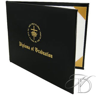 Choose from 8 design and color combinations for your diploma cover