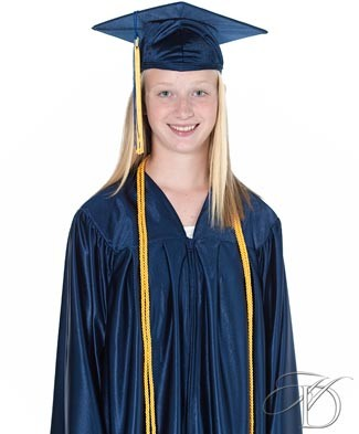 65f3f9ee9b6 Navy Tribute Shiny Cap and Gown