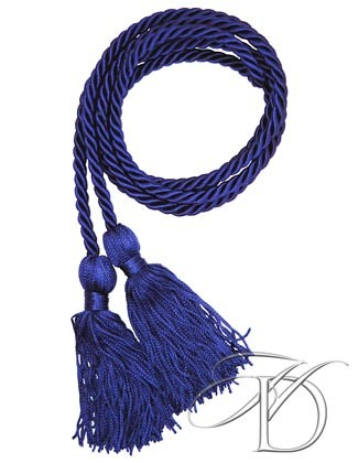 Navy Blue Honor Cords for High School or Homeschool Graduation