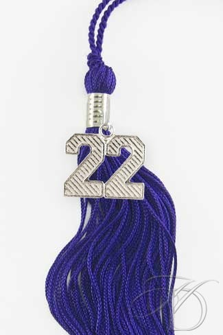 Purple Tassel with silver date charm