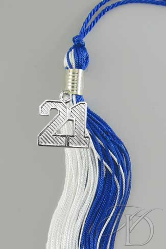 Royal & White Tassel
